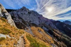 sentiero per il Rifugio Bietti